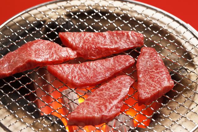 上州牛カルビの焼肉